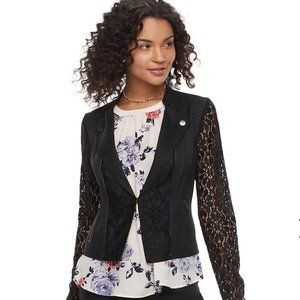 CANDIE'S Lace Moto Jacket